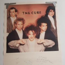 Fotos de Cantantes: POSTER THE CURE BROCKUM 1986. Lote 210937287