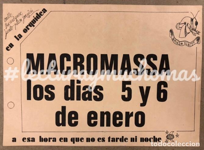 MACROMASSA. HISTÓRICO CARTEL ORIGINAL CONCIERTO EN BARCELONA EN LOS 80. OMNIA VINCIT. (Música - Fotos y Postales de Cantantes)