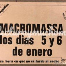 Fotos de Cantantes: MACROMASSA. HISTÓRICO CARTEL ORIGINAL CONCIERTO EN BARCELONA EN LOS 80. OMNIA VINCIT.. Lote 211443385