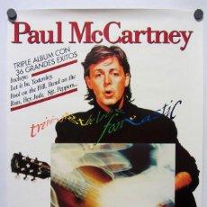 "Fotos de Cantantes: PAUL MCCARTNEY ""TRIPPING THE LIVE FANTASTIC"" (1990). HISTÓRICO CARTEL PROMOCIONAL DEL ÁLBUM.. Lote 211443657"