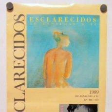 Fotos de Cantantes: ESCLARECIDOS. CARTEL PROMOCIONAL GRABACIONES ACCIDENTALES CON SUS ÁLBUMES (1989).. Lote 211519666