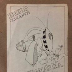 Fotos de Cantantes: MACROMASSA. HISTÓRICO CARTEL ORIGINAL PROMOCIONAL CONCIERTO EN L'ORQUIDEA (BARCELONA), AÑOS 80. Lote 211649390