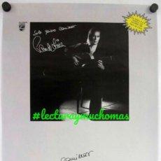 """Fotos de Cantantes: PACO DE LUCÍA """"SOLO QUIERO CAMINAR"""" (1988). CARTEL ORIGINAL PROMOCIONAL DEL ÁLBUM. Lote 211925388"""