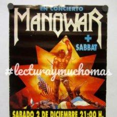 Fotos de Cantantes: MANOWAR + SABBAT. CARTEL HISTÓRICO CONCIERTO EN VELÓDROMO ANOETA SAN SEBASTIÁN EN 1989. Lote 211933056