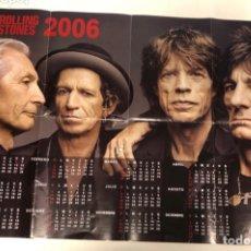 "Fotos de Cantantes: THE ROLLING STONES ""A BIGGER BAND"". CALENDARIO PROMOCIONAL AÑO 2006.. Lote 212038081"