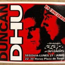 Fotos de Cantantes: DUNCAN DHU. PASE DE BACKSTAGE CONCIERTO EN SEGOVIA. FINALES AÑOS 80.. Lote 212038283