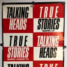 """Fotos de Cantantes: TALKING HEADS """"TRUE STORIES"""" (1986). CARTEL ORIGINAL PROMOCIONAL DEL ÁLBUM.. Lote 212414598"""