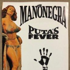 """Fotos de Cantantes: MANO NEGRA """"PUTA'S FEVER"""" (1989). CARTEL ORIGINAL PROMOCIONAL DEL ÁLBUM.. Lote 212428772"""