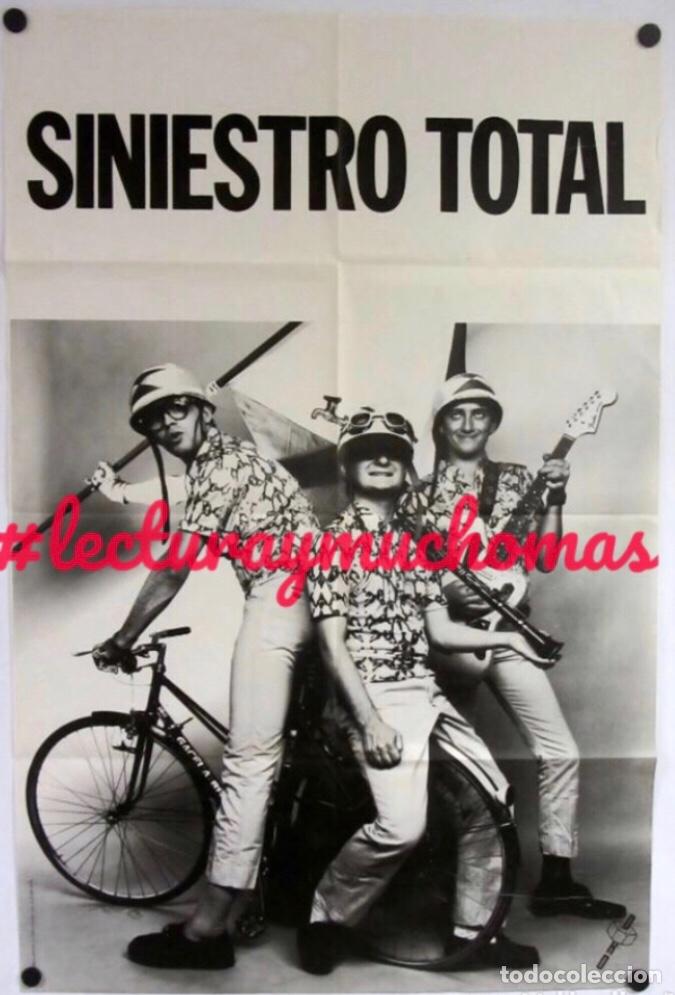 SINIESTRO TOTAL. HISTÓRICO CARTEL ORIGINAL PROMOCIONAL DE 1985. (Música - Fotos y Postales de Cantantes)