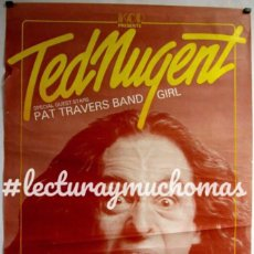 "Fotos de Cantantes: TED NUGENT ""SCREA DREAM TOUR"". HISTÓRICO CARTEL ORIGINAL CONCIERTO EN FRANCIA (1980). Lote 212431830"