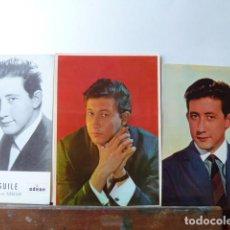 Fotos de Cantantes: LUIS AGUILE LOTE 3 POSTALES DE LOS AÑOS 60 Y UNA DEDICADA. Lote 212719438