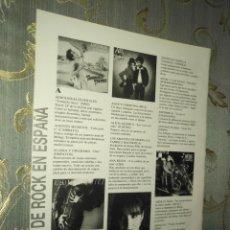 Fotos de Cantantes: HOJA MUSICAL AÑOS 80S - ANTONIO FLORES, ANA BELEN, ALASKA Y DINARAMA, EEROLINEAS FEDERALES, ALEX. Lote 212867718