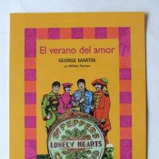 Fotos de Cantantes: POSTAL PROMOCIONAL TAMAÑO GRANDE BEATLES LIBRO EL VERANO DEL AMOR GEORGE MARTIN. Lote 212967500