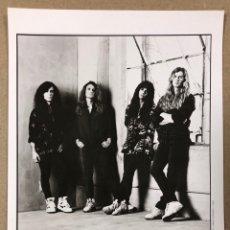 Fotos de Cantantes: MEGADETH. FOTOGRAFÍA PROMOCIONAL B/N DISCOGRÁFICA CAPITOL RECORDS HISPAVOX (1992).. Lote 216397936