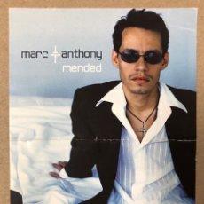"""Fotos de Cantantes: MARC ANTHONY. INVITACIÓN PRESENTACIÓN """"MENDED"""" (2002) CON ACTUACIÓN POBLE ESPANYOL (BARCELONA). Lote 216399353"""
