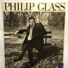 """Fotos de Cantantes: PHILIP GLASS """"THE OPERA TRILOGY"""". CARTEL PROMOCIONAL DE CARTÓN CON SOPORTE TRASERO. Lote 216928662"""