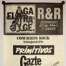 Fotos de Cantantes: PRIMITIVOS + GAZTE HILAK + VICIOSA + M.C.D. CARTEL ORIGINAL INAUGURACIÓN SALA EL GARAGE (BILBAO).. Lote 217120391