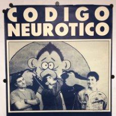 """Fotos de Cantantes: CÓDIGO NEURÓTICO. CARTEL ORIGINAL PRESENTACIÓN ÁLBUM """"EN LA BARRA DEL BAR"""" (1990). PUNK.. Lote 217121836"""