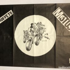 Fotos de Cantantes: MOTOS, MUÉVETE. SOIÑUA, NAFARROCK. CARTEL ORIGINAL PROMOCIONAL 1982. 75 X 56 CMS.. Lote 176034235