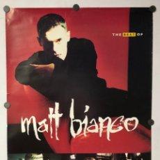 """Fotos de Cantantes: MATT BIANCO """"THE BEST OF"""" (1991). CARTEL PROMOCIONAL DEL ÁLBUM.. Lote 217151592"""