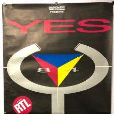Fotos de Cantantes: YES. CARTEL PROMOCIONAL DEL TOUR DE 1984 POR FRANCIA DE LA HISTÓRICA BANDA DE ROCK BRITÁNICA.. Lote 217154792