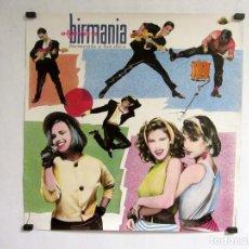 """Fotos de Cantantes: OBJETIVO BIRMANIA """"TORMENTA A LAS DIEZ"""" (1984). HISTÓRICO CARTEL PROMOCIONAL DEL ÁLBUM.. Lote 217160902"""