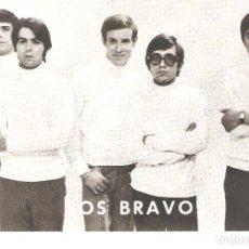 Fotos de Cantantes: POSTAL PROMOCIONAL DISCOGRAFÍA LOS BRAVOS. CON SELLO DEL CLAN LOS BRAVOS, BADAJOZ.. Lote 217970406