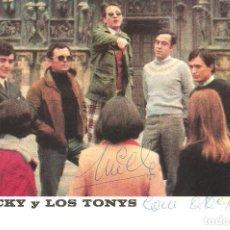 Fotos de Cantantes: POSTAL PROMOCIONAL DISCOGRAFÍA MICKY Y LOS TONYS. CON AUTÓGRAFO.. Lote 217974012