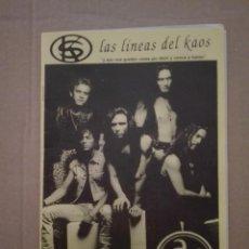 Fotos de Cantantes: 2 LIBRETOS LINEAS DEL KAOS - HEROES DEL SILENCIO. Lote 204796568