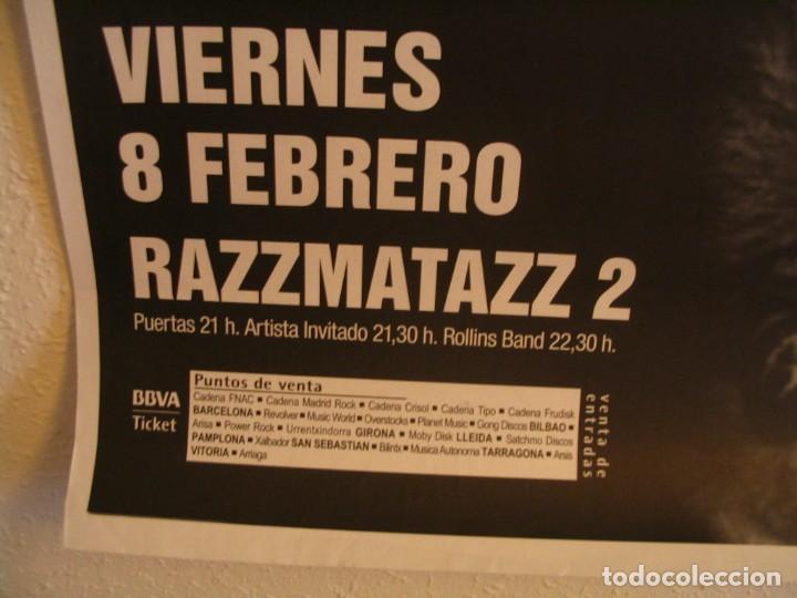 Fotos de Cantantes: ROLLINS BAND CARTEL ORIGINAL RAZZMATAZZ BARCELONA GIRA TOUR 100X70 - Foto 3 - 218705796