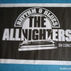 Fotos de Cantores: CARTEL CONCIERTO THE ALLNIGHTERS. MOD. RHYTHM & BLUES, BEAT. VITORIA. Lote 218797102