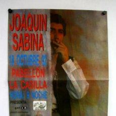 Fotos de Cantantes: JOAQUÍN SABINA. CARTEL PROMOCIAL CONCIERTO PABELLÓN LA CASILLA DE BILBAO (1992).. Lote 219078161