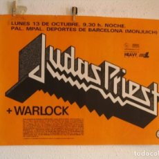 Photos de Chanteurs et Chanteuses: JUDAS PRIEST + WARLOCK CARTEL ORIGINAL BARCELONA 1986 GIRA TOUR 64X90. Lote 219079580