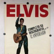 Fotos de Cantantes: ELVIS PRESTLEY. CARTEL PROMOCIONAL ELVIS ESENCIAL.. Lote 219116596