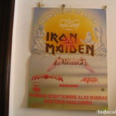 Fotos de Cantantes: IRON MAIDEN METALLICA MANZANO MONSTERS OF ROCK CARTEL ORIGINAL MADRID 1988 GIRA TOUR 120X89. Lote 219391366