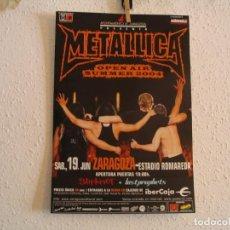 Fotos de Cantantes: METALLICA + SLIPKNOT CARTEL ORIGINAL ZARAGOZA 2004 GIRA TOUR 42X29. Lote 219393280