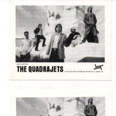 Fotos de Cantantes: DOS FOTOGRAFIAS DE THE QUADRAJETS. Lote 219538090
