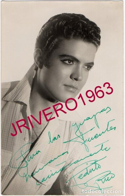 FOTOGRAFIA ORIGINAL AUTOGRAFIADA DE PEDRITO RICO, 9X14 CMS (Música - Fotos y Postales de Cantantes)