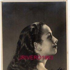 Fotos de Cantantes: FOTOGRAFIA ORIGINAL AUTOGRAFIADA DE ROSITA MONTERO, 88X136MM. Lote 220764798
