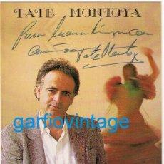 Fotos de Cantantes: POSTAL CON AUTOGRAFO ORIGINAL DEL CANTANTE TATE MONTOYA. Lote 220769005