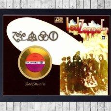 Fotos de Cantantes: LED ZEPPELIN II CUADRO CON GOLD O PLATINUM CD LTD FRAMED. Lote 221114228