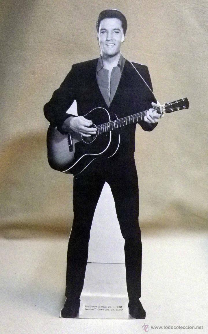 FIGURA TROQUELADA SOBRE CARTON, ELVIS PRESLEY, 1991 (Música - Fotos y Postales de Cantantes)