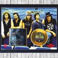 Fotos de Cantantes: BON JOVI NEW JERSEY CUADRO CON GOLD O PLATINUM CD EDICION LIMITADA. FRAMED. Lote 277443378