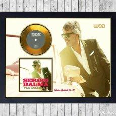 Fotos de Cantantes: SERGIO DALMA VIA DALMA II CUADRO CON GOLD O PLATINUM CD EDICION LIMITADA. FRAMED. Lote 222172676