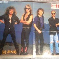 Fotos de Cantantes: GARY MOORE+DEF LEPPARD POSTER DESPLEGABLE EL GRAN MUSICAL. Lote 222336666