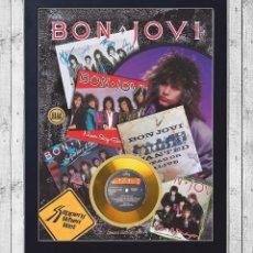 Fotos de Cantantes: BON JOVI SINGLES CUADRO CON GOLD O PLATINUM CD EDICION LIMITADA. FRAMED. Lote 277443838