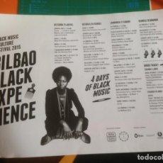 Fotos de Cantantes: CARTEL BILBAO BLACK EXPERIENCE - DIN-A3. Lote 223562912
