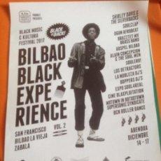 Fotos de Cantantes: CARTEL BILBAO BLACK EXPERIENCE VOL.2 - DIN-A3. Lote 223562981