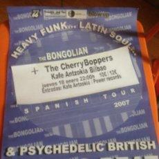 Fotos de Cantantes: CARTEL THE BONGOLIAN + THE CHERRY BOPPERS EN CONCIERTO - KAFE ANTZOKIA BILBAO. Lote 223566632
