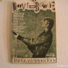 Fotos de Cantores: DAVID BOWIE CARTEL ORIGINAL MADRID BARCELONA GIRA 1987 TOUR 45X30. Lote 224327288